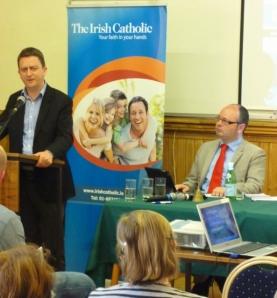 David Quinn, Iona Institute with Michael Kelly, Irish Catholic