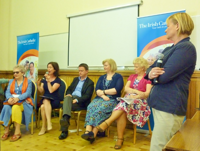 Eileen Dunne chairing panel discussion