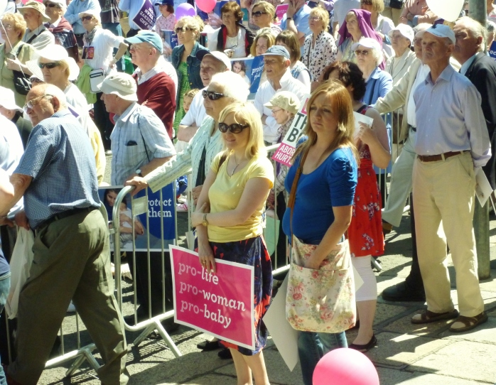 Crowd at Vigil for Life