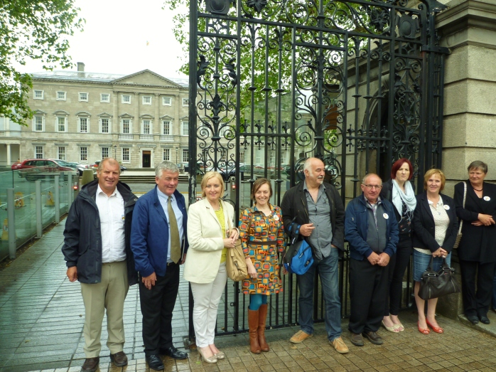 Group from Geel at Leinster House