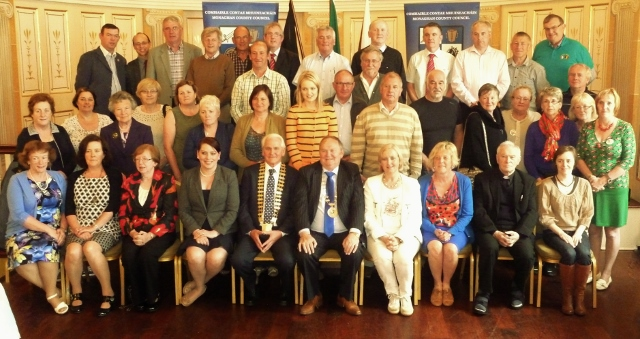 Civic reception by Monaghan County Council for Geel group