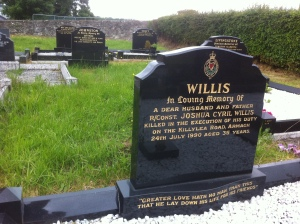 Grave of Reserve Constable Joshua Willis