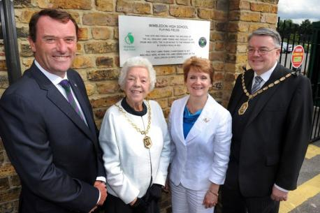 Plaque unveiled at Worple Road June 2012: Photo Wimbledon Guardian