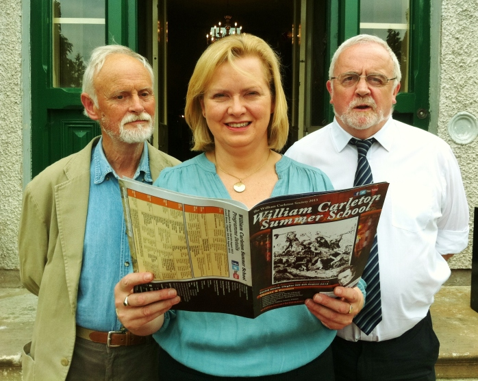 William Carleton Summer School Launch at Corick House, Clogher: Sam Craig, Isabel Orr & Liam Foley, Committee Members