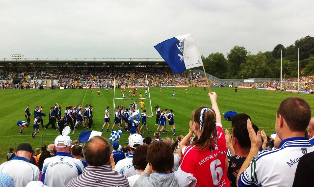 Monaghan Minors celebrate Ulster title with lap of honour at Clones