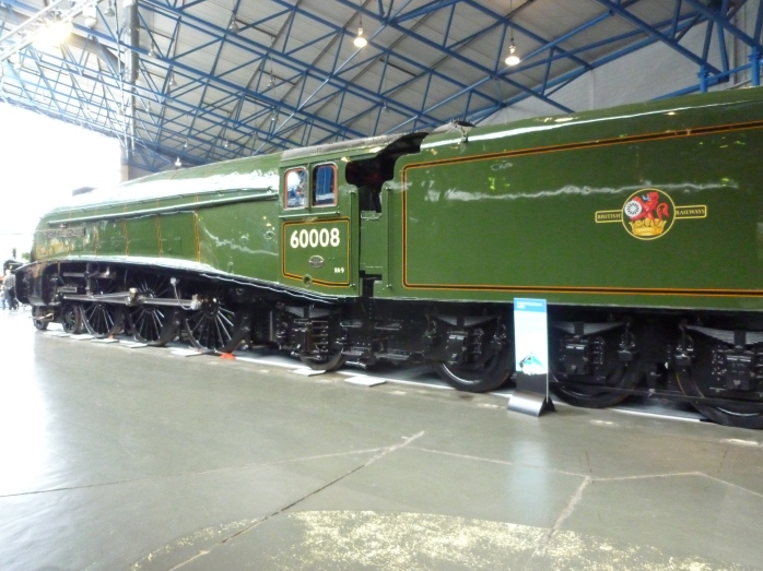 Dwight D Eisenhower at York in traditional BR green livery
