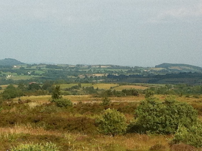 Clogher Valley with Knockmany in distance