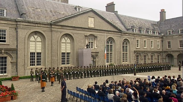 Commemoration at Kilmainham Photo: RTE News