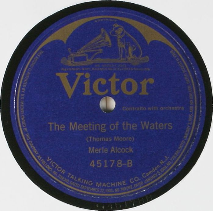 Victor Record Label: The Meeting of the Waters