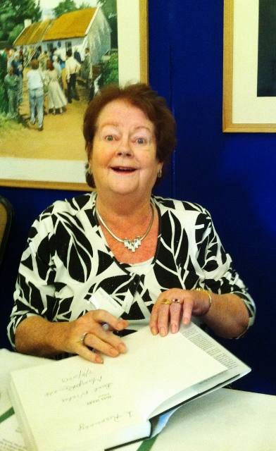 Mary O'Rourke signing copies of her Memoir