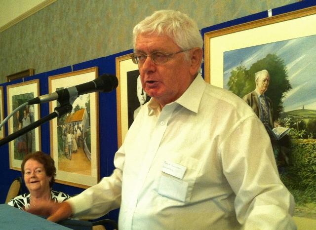 Dr Frank Brennan introduces Mary O'Rourke at the William Carleton summer school