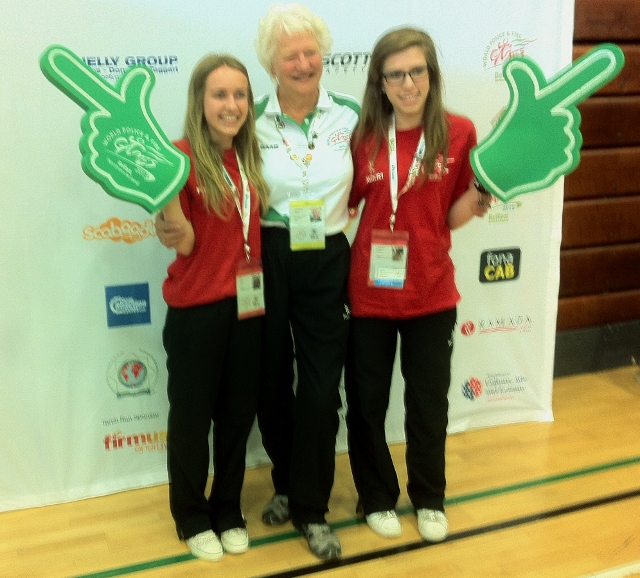 WPFG Patron Dame Mary Peters with Games Ambassadors