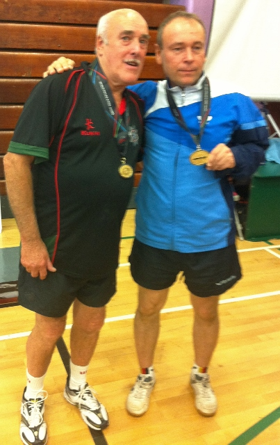 Grand Master gold medallists Jay McAllister (NIFRS) & Vladimir Markin, Kazakhstan Photo: Michael Fisher