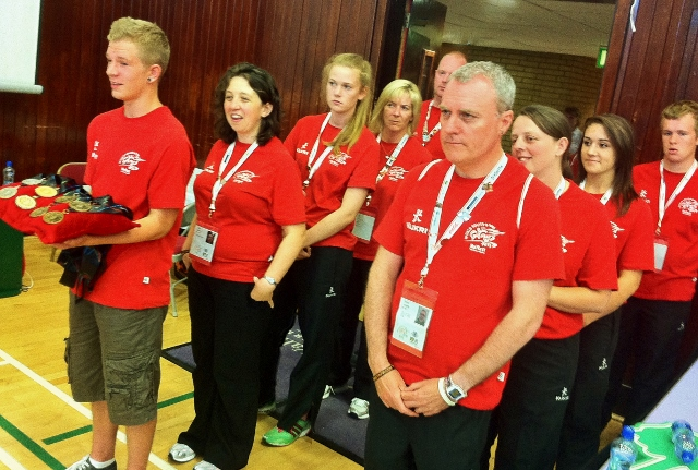Volunteer team rehearse medal presentation Photo: © Michael Fisher