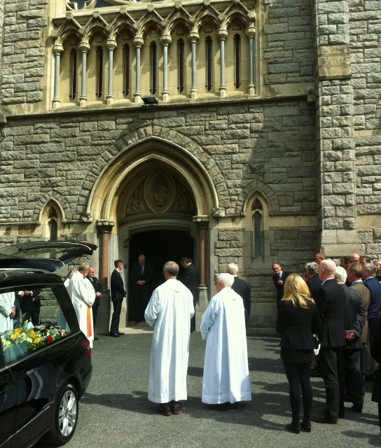 Kevin Feeney's funeral at Donnybrook Church