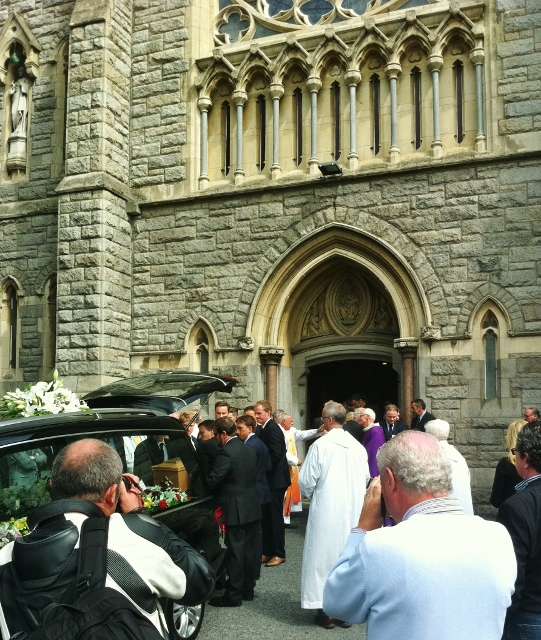 Funeral of Kevin Feeney at Sacred Heart Church, Donnybrook