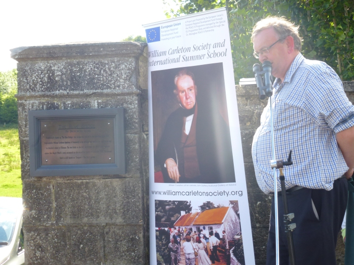 Unveiling of plaque at Blue Bridge, Emyvale, by Michael Fisher