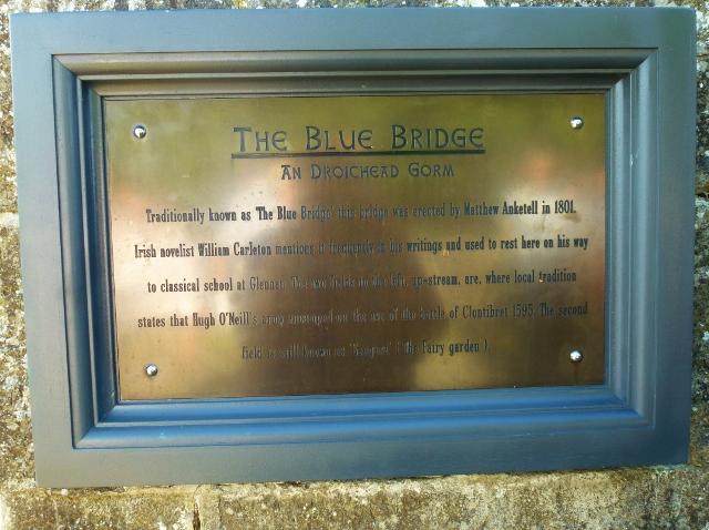Restored Blue Bridge Plaque