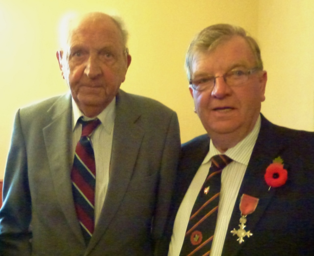 Dr Clifford McCord retired GP Aughnacloy & Cllr Allan Rainey MBE Photo: © Michael Fisher