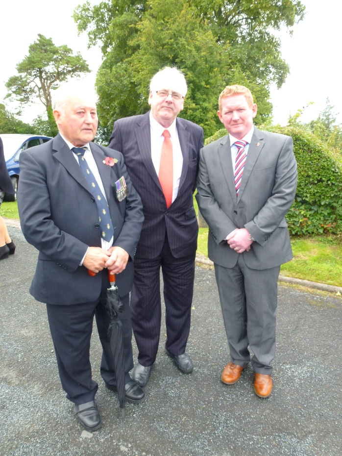 British Legion Aughnacloy representative with Michael Gallagher & Stephen Gault