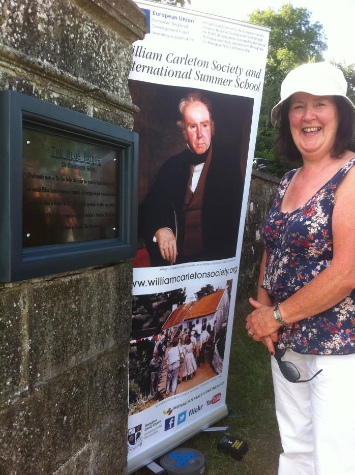 Breege Lenihan, Tydavnet at unveiling of Blue Bridge restored plaque