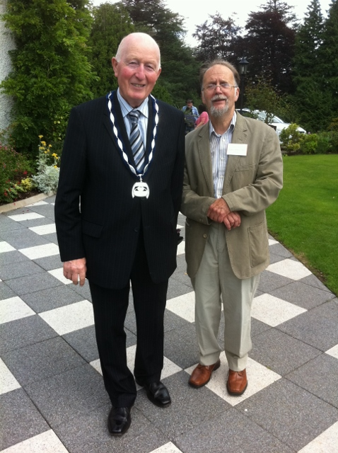 Deputy Mayor of Dungannon/S.Tyrone Cllr Robert Mulligan with Jack Johnstonm President William Carleton Society