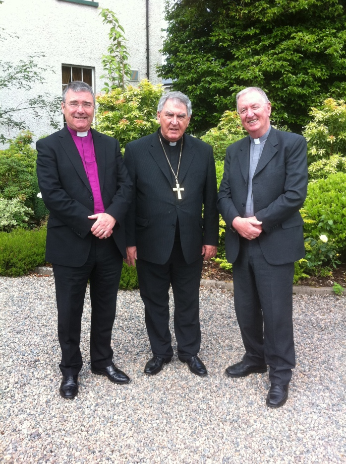 Bishops of Clogher: Rev. John McDowell & Dr Liam MacDaid with Dr Joseph Duffy
