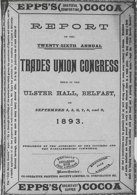 TUC 1893 Congress Belfast