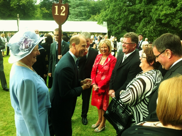 Prince Edward meets WPFG organisers at Hillsborough Castle Photo: © Michael Fisher