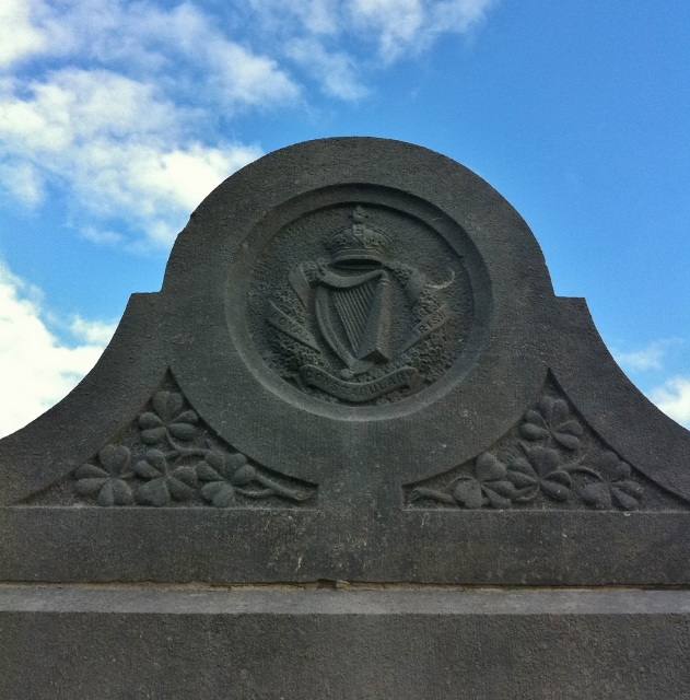 Crest from Memorial at RIC Burial Plot Glasnevin Cemetery Photo: © Michael Fisher