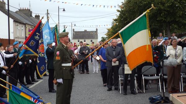 Irish & British Army veterans on parade at Crinkill Photo: © Ray Hayden