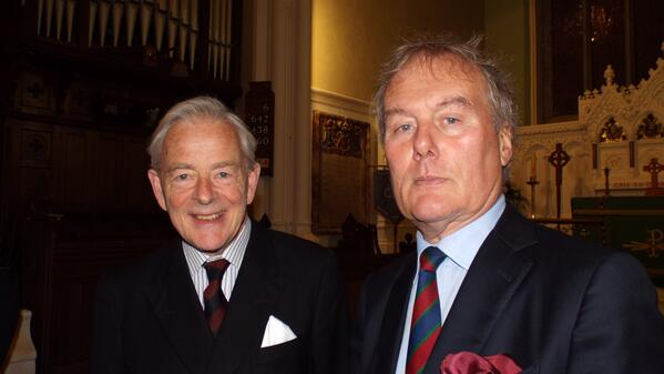 Lord Rosse of Birr Castle and Kevin Myers Photo: © Ray Hayden