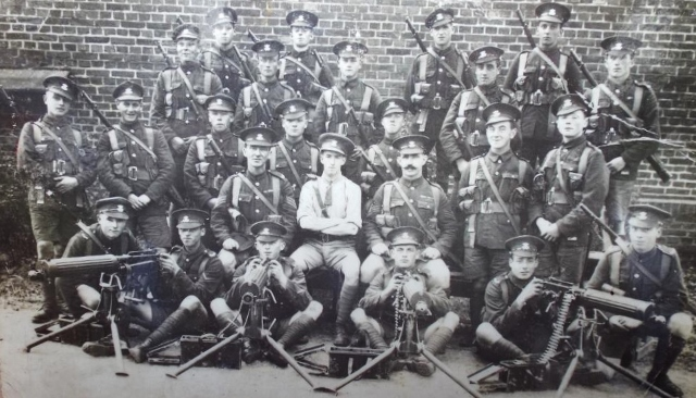Leinster Regiment soldiers prepare to set off for WWI Archive Photo via Ray Hayden ©