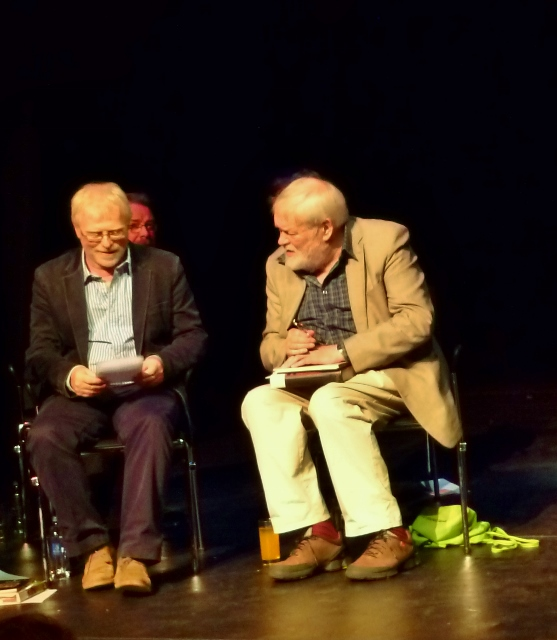 Frank Ormsby & Michael Longley Photo: © Michael Fisher