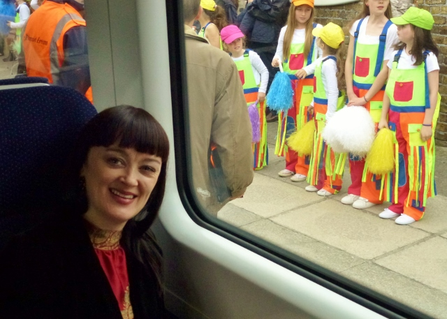 Bronagh Gallagher on board the RTÉ Music Train Photo: © Michael Fisher