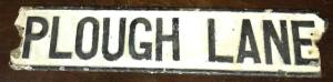 Old SW19 road sign from the days of Wimbledon FC