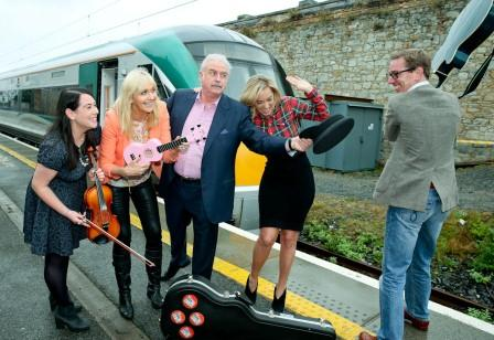 RTÉ presenters launch Big Music Week at Dún Laoghaire Photo: IE website