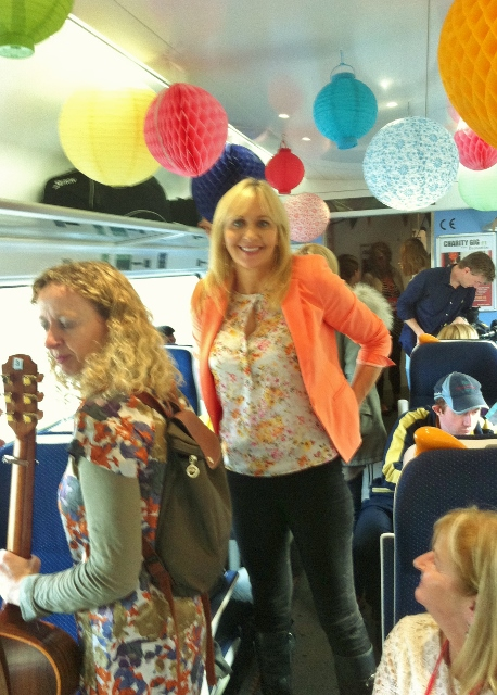 Miriam O'Callaghan on board the RTÉ Music Train Photo: © MIchael Fisher