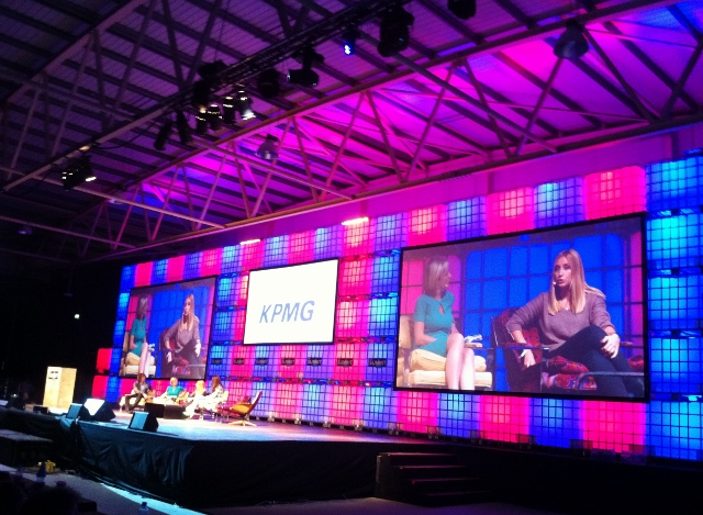 Main Stage at the Web Summit, RDS  Photo: © Michael Fisher
