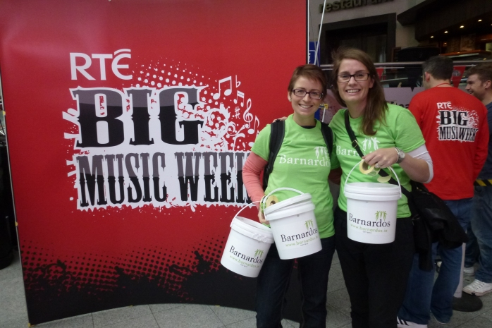 Collecting for Barnardos during the Big Music Week Photo: © Michael Fisher