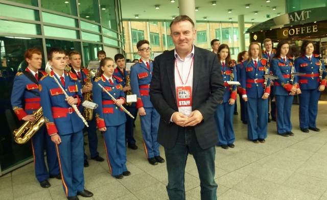 RTÉ Director General Noel Curran at Connolly station for Big Music Week Photo: © Michael Fisher