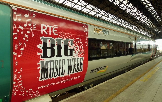 RTÉ Music Train at Connolly Station Photo: © Michael Fisher