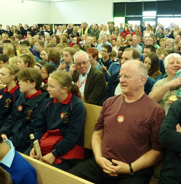 Christy Moore at Patrician Secondary School Photo: © Michael Fisher