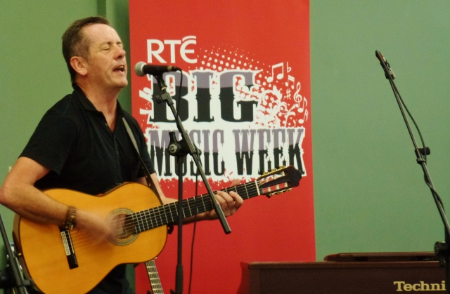 Luka Bloom sings  'Don't be afraid of the light within you' in Newbridge Photo: © Michael Fisher