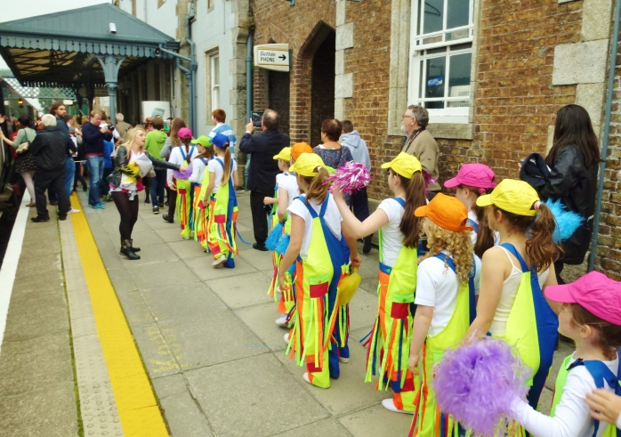 Colourful welcome for the RTÉ Music Train at Carlow Photo: © Michael Fisher