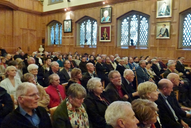 Audience at the Great Hall in Queen's University Photo: © Michael Fisher