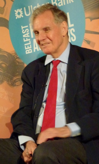 Jonathan Aitken at the Belfast Festival at Queen's  Photo: © Michael Fisher