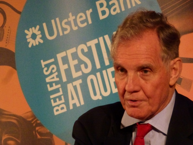 Jonathan Aitken at the Belfast Festival at Queens Photo: © Michael Fisher