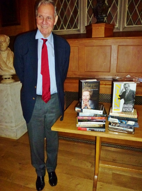 Jonathan Aitken with his books Photo: © Michael Fisher