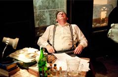 Adrian Dunbar in 'Brendan at the Chelsea'  Photo: Lyric Theatre
